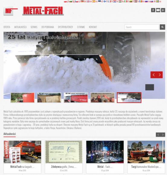 Nowy serwis internetowy spółki Metal – Fach