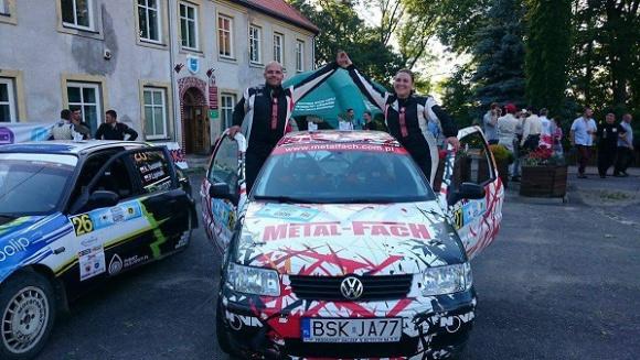 """Załoga rajdowa Metal – Fach na podium kolejnego """"Szuter Cup"""""""