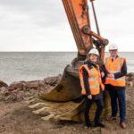 Wbito pierwszą łopatę na budowie nowych przystani w porcie Ystad.