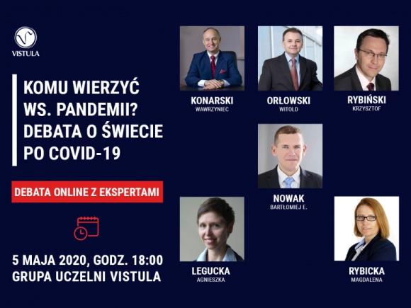 Komu wierzyć ws. pandemii? Debata o świecie po Covid-19
