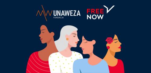 Jadąc taksówką FREE NOW w Dzień Kobiet wspierasz Fundację UNAWEZA
